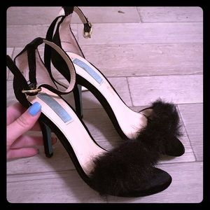 Betsey Johnson Fluffy Heels